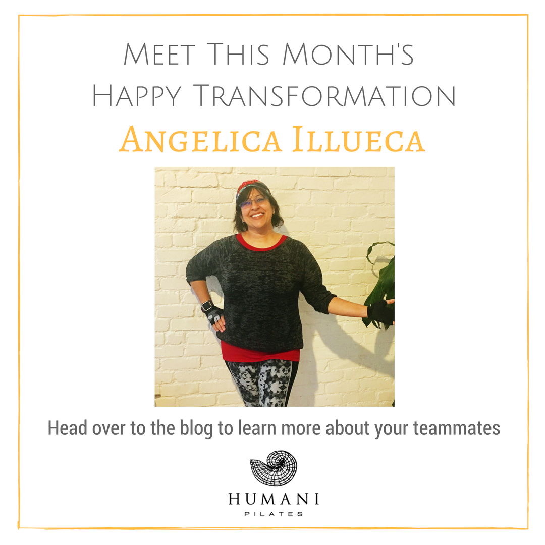 Find your own inspiration for a Pilates transformation with our monthly Happy Transformations at Humani.